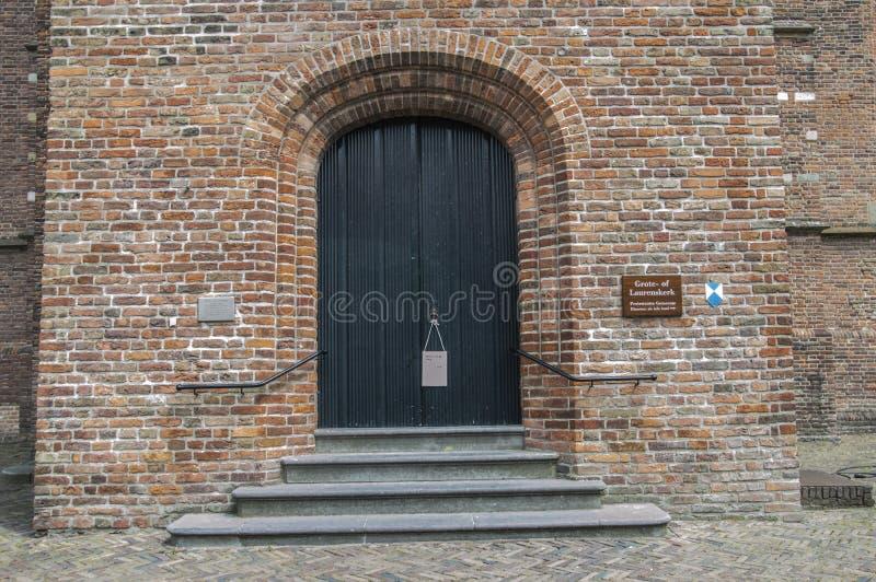 格罗特或Laurens教会的门韦斯普的荷兰2018年 库存图片