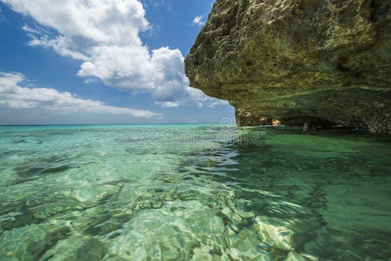 格罗特Knip海滩,库拉索岛, 免版税图库摄影