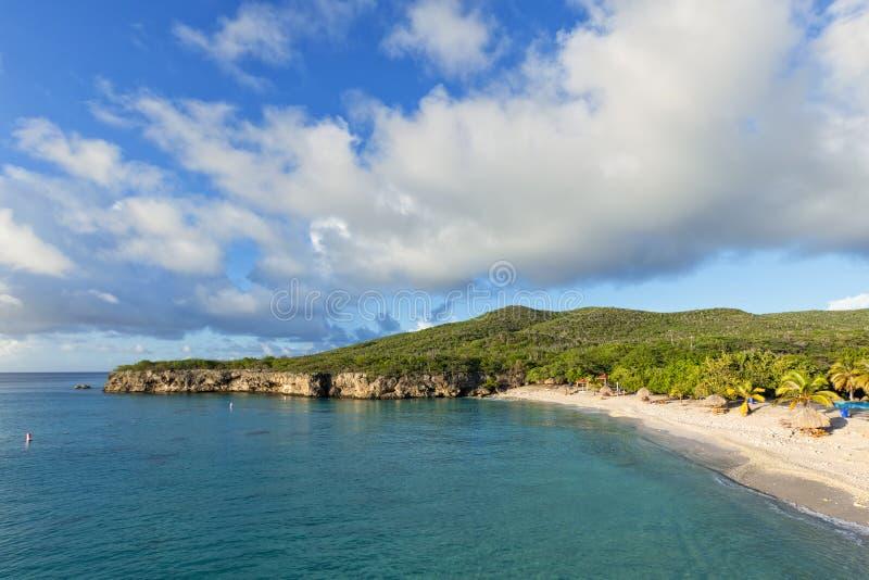 格罗特Knip海滩或Knip Grandi,库拉索岛 图库摄影