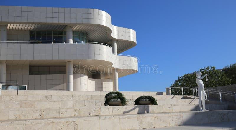 格蒂中心,洛杉矶,加利福尼亚的外部 免版税库存图片