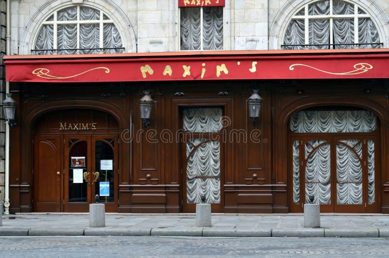 格言的-最著名的餐馆在巴黎 免版税图库摄影