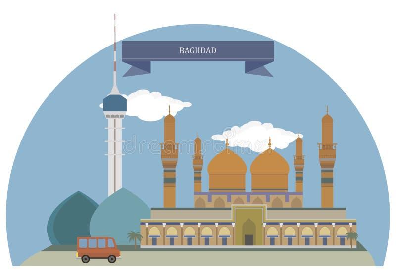 巴格达,伊拉克 向量例证