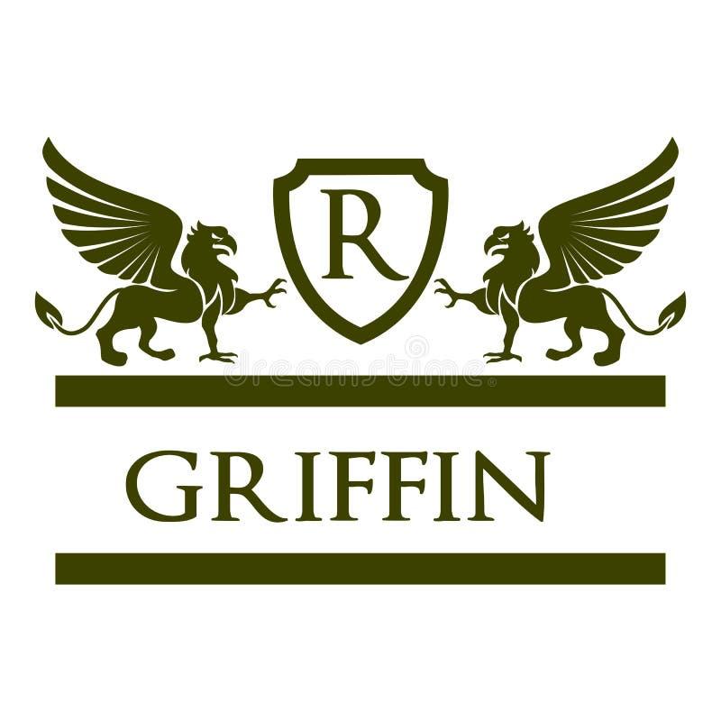 格里芬纹章学商标皇家的Vrctor 皇族释放例证