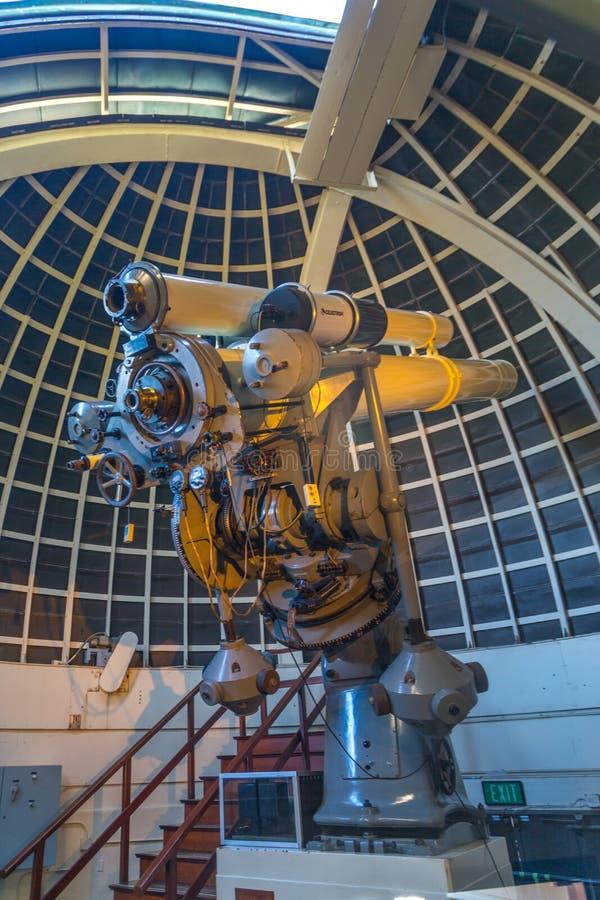 格里菲斯观测所望远镜 图库摄影