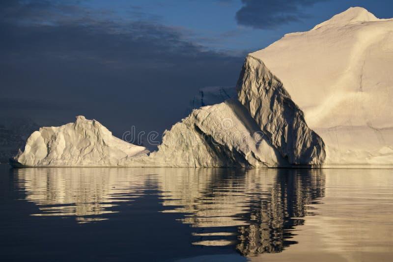 格陵兰冰山scoresbysund 免版税库存图片