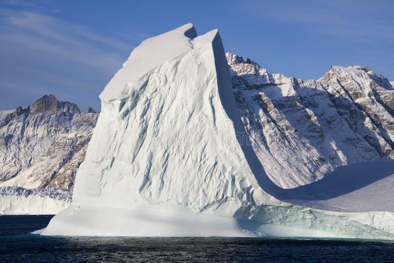 格陵兰冰山scoresbysund 免版税库存照片
