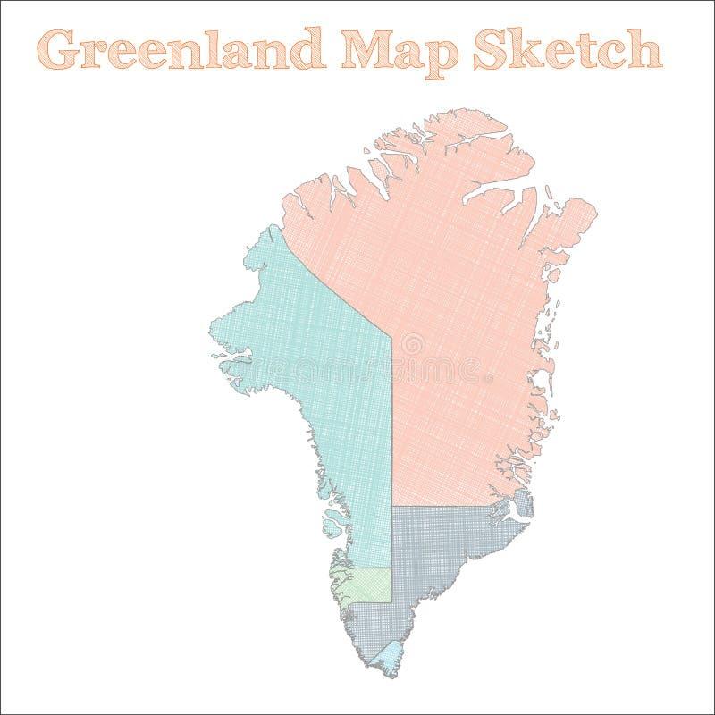 格陵兰地图 向量例证
