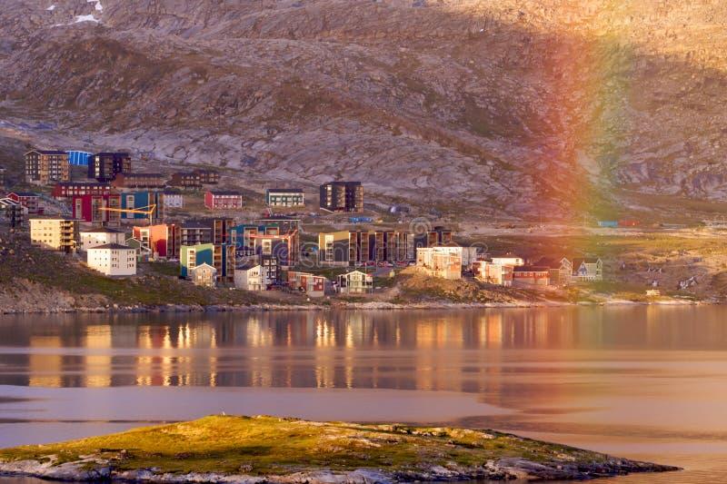 格陵兰qinngorput 图库摄影
