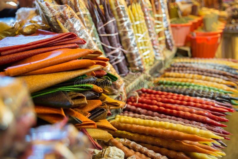 格鲁吉亚传统甜点Churchkhela照片图表和网络设计的,网站或流动应用程序的 免版税库存照片