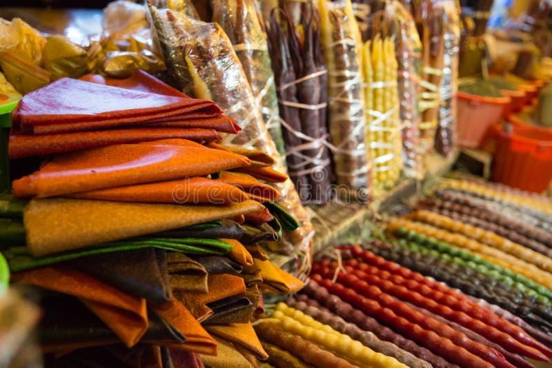 格鲁吉亚传统甜点Churchkhela照片图表和网络设计的,网站或流动应用程序的 库存照片