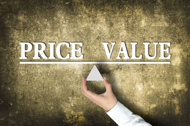 价格价值平衡 免版税库存照片