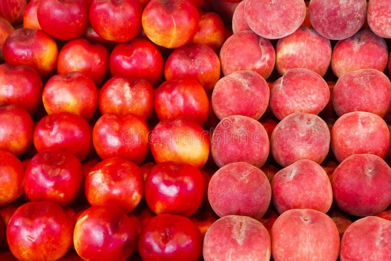 桃子和油桃 库存照片