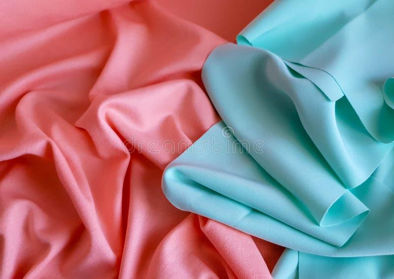 桃子和薄荷的颜色两个样品  免版税库存图片