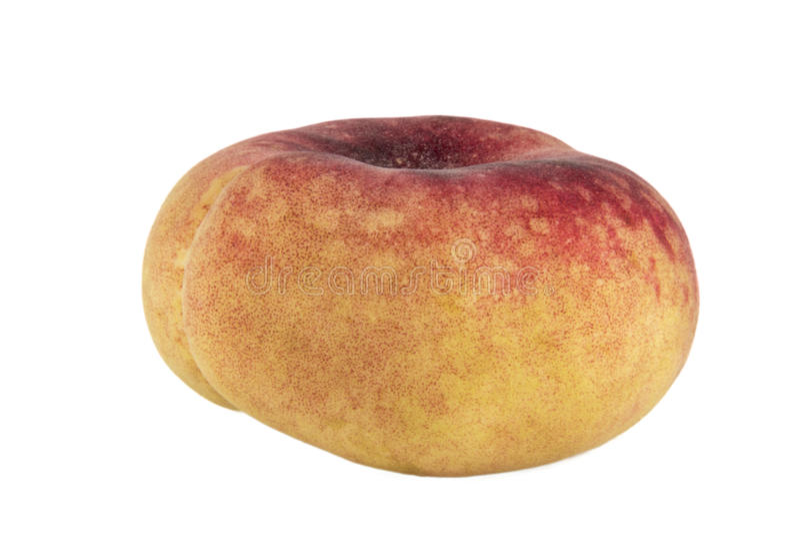 桃子在白色背景照片隔绝的土星 美丽的pictu 库存图片