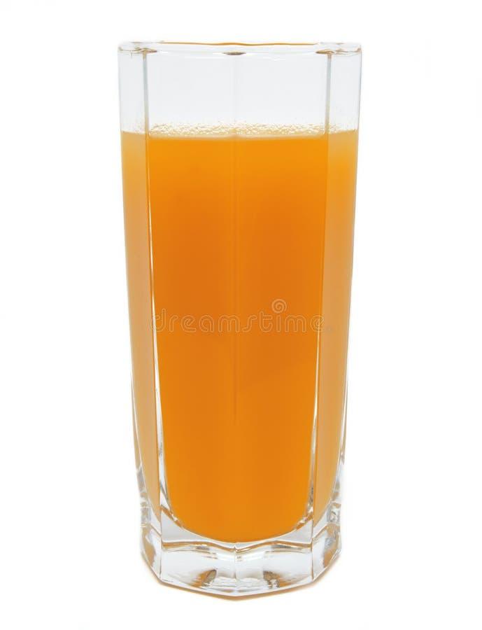 桃子在被隔绝的玻璃的果汁 图库摄影