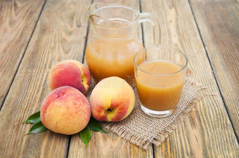 桃子汁 库存图片