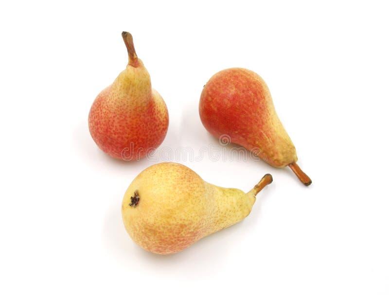 桃子红色橙黄色成熟-束果子-背景隔绝了白色 库存图片