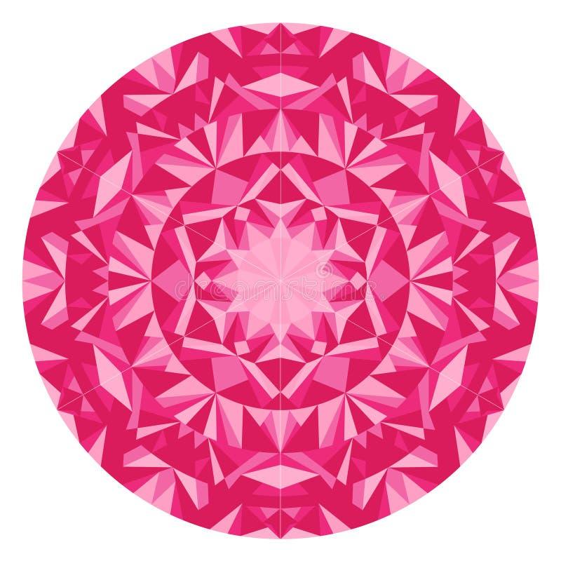 桃红色三角幻觉坛场现代印地安艺术万花筒  可利用的EPS 皇族释放例证
