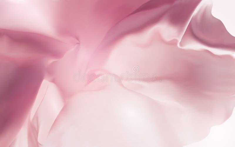 桃红色丝织物背景 免版税库存图片