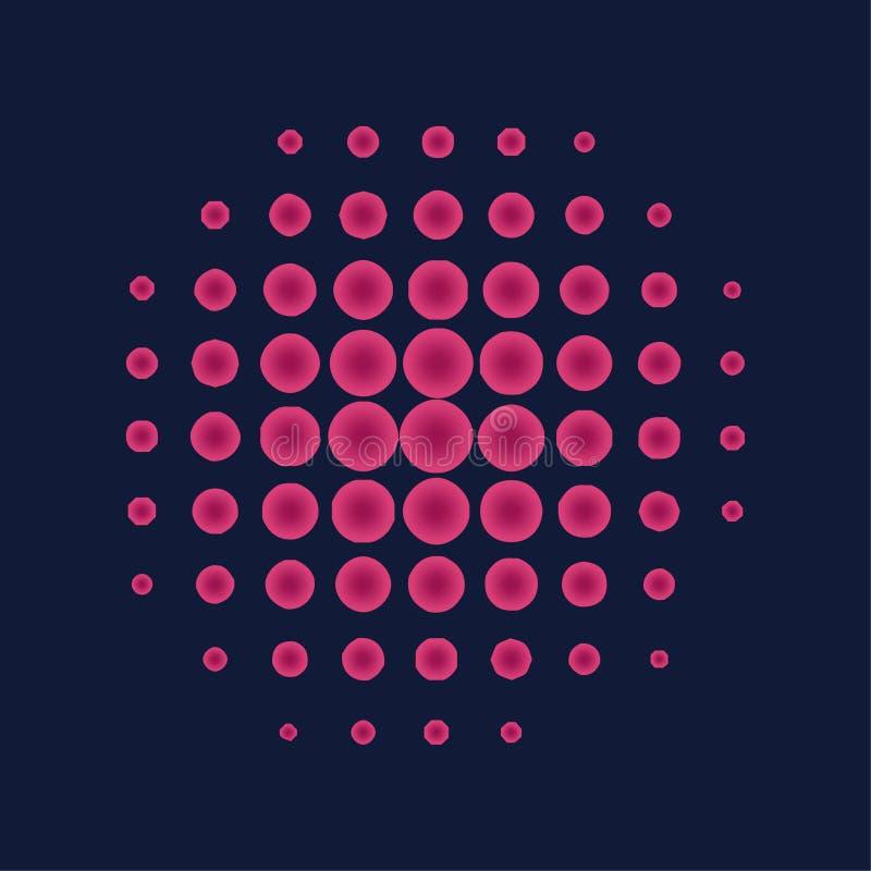 桃红色中间影调盘旋背景,半音光点图形图片