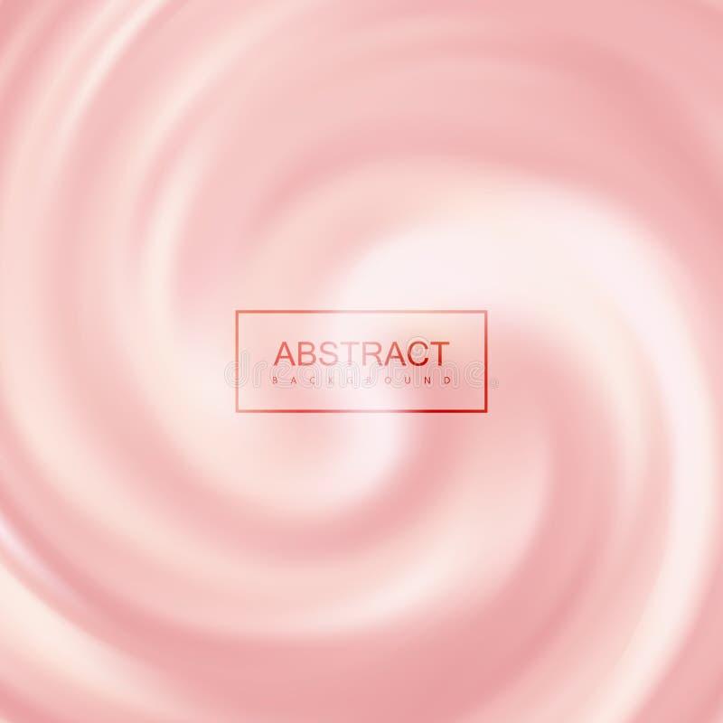 桃红色乳脂状的打旋的背景 向量例证