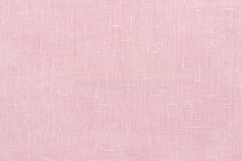 桃红色亚麻制淡色织品、背景或者纹理 库存图片
