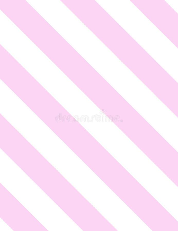 桃红色几何简单的对角图象 库存例证