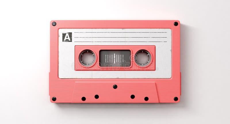 桃红色卡式磁带混合磁带 库存例证