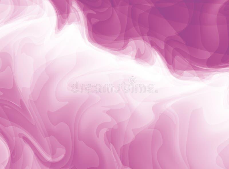 桃红色和白色现代抽象分数维艺术 与一个混乱样式的明亮的背景例证 创造性的图表模板,自由 库存例证
