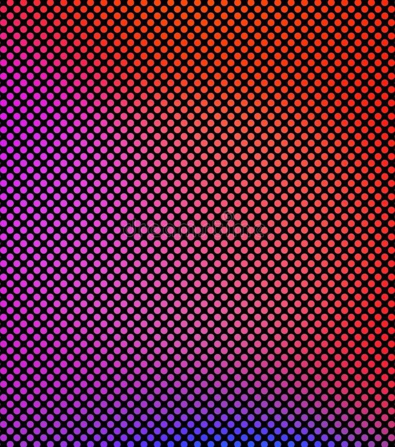 桃红色和红色梯度摘要圈子在对角平直的行在白色背景 ?? 五颜六色的对称小点 向量例证