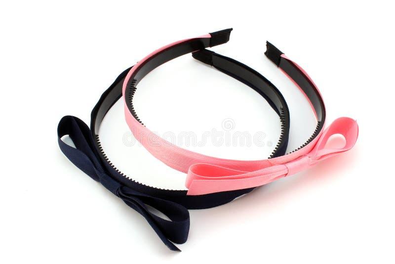 桃红色和蓝色发带 免版税库存图片