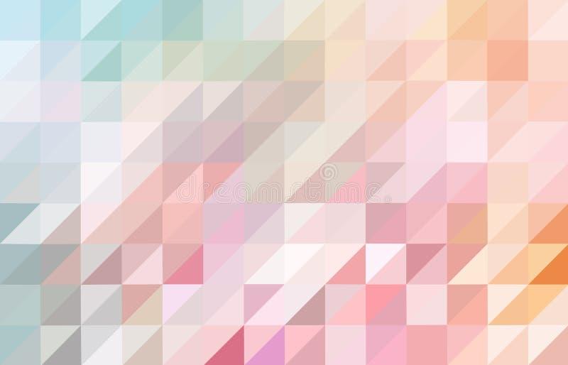 桃红色和蓝色色的三角样式背景 向量例证
