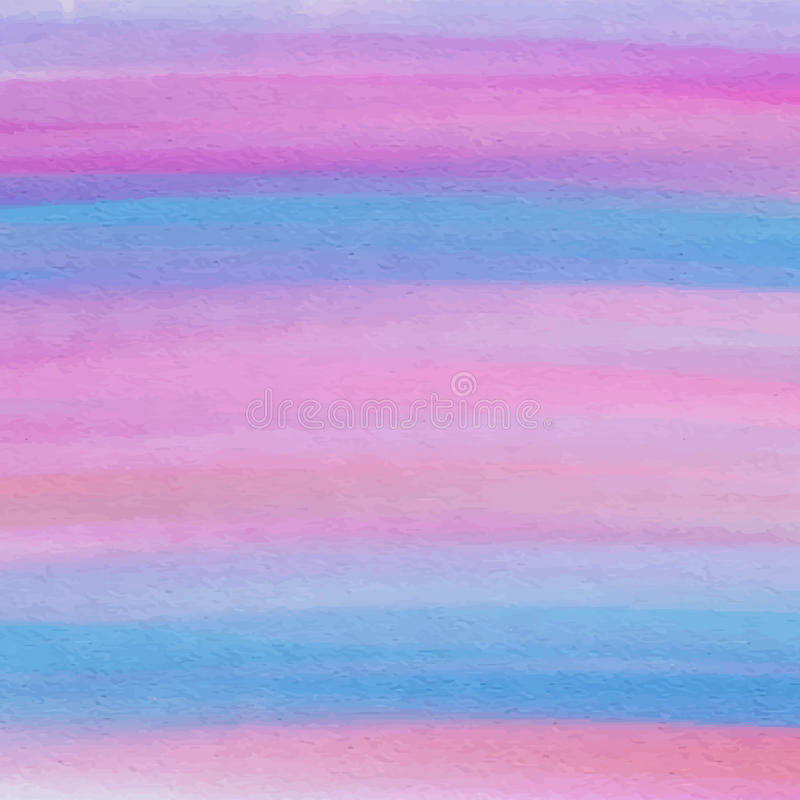 桃红色和蓝色水彩纹理 库存例证