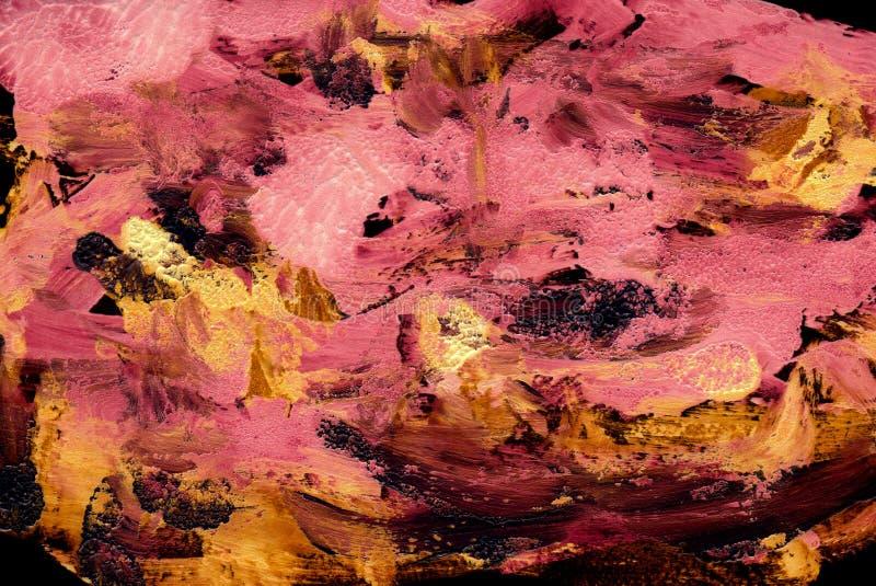 桃红色和金抽象背景 皇族释放例证