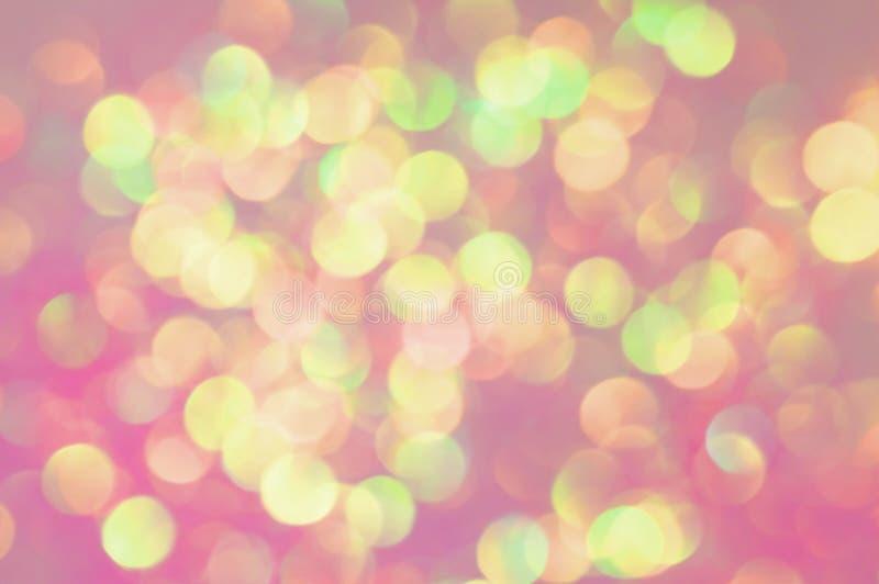 桃红色和黄色闪烁 免版税图库摄影