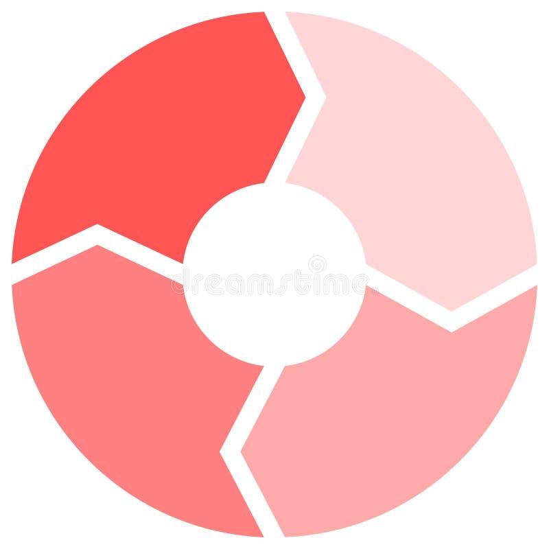 桃红色圈子四步为解释的概念用图解法表示 免版税图库摄影