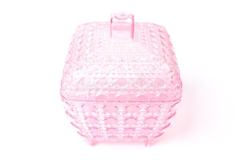 桃红色塑料盒 图库摄影