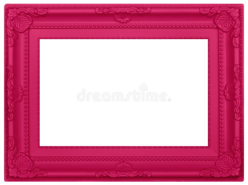 桃红色塑料画框 免版税图库摄影