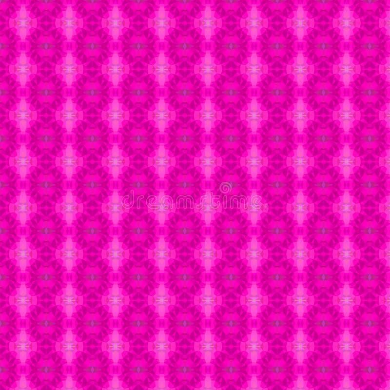 桃红色多角形无缝的背景 免版税库存图片