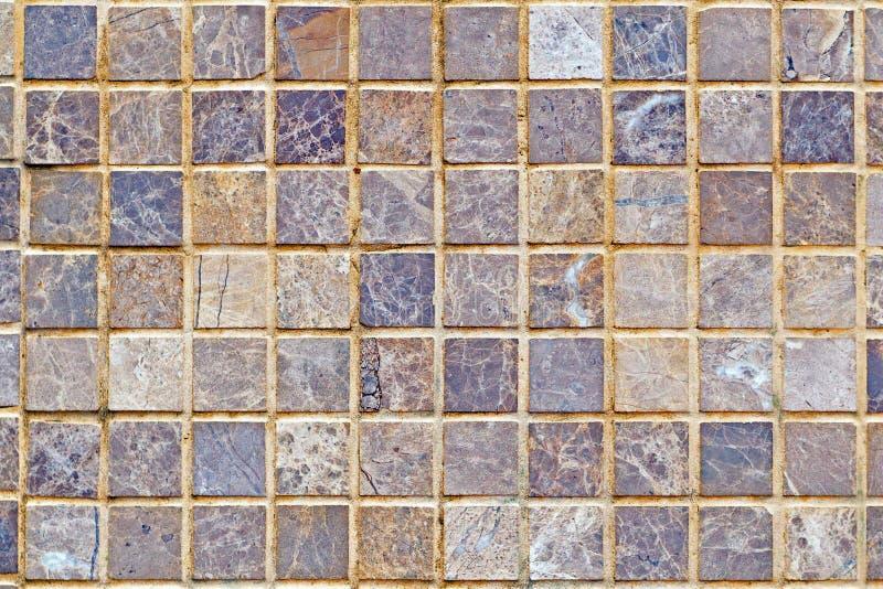桃红色大理石瓦片的纹理,背景 免版税库存图片