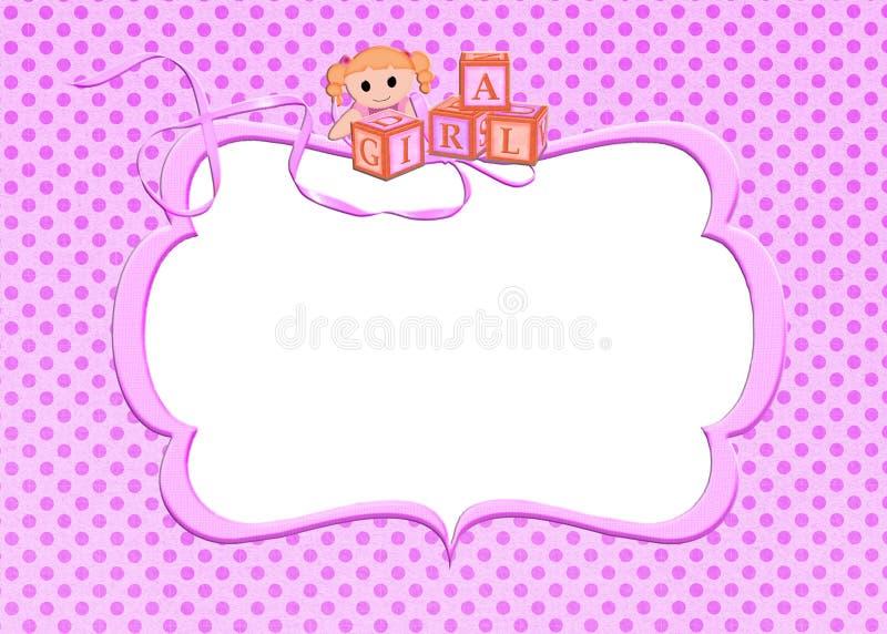 桃红色女婴框架 向量例证
