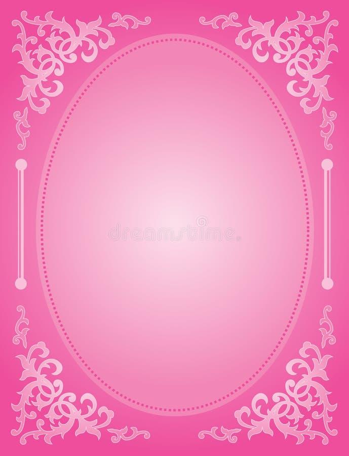 桃红色婚礼邀请 向量例证