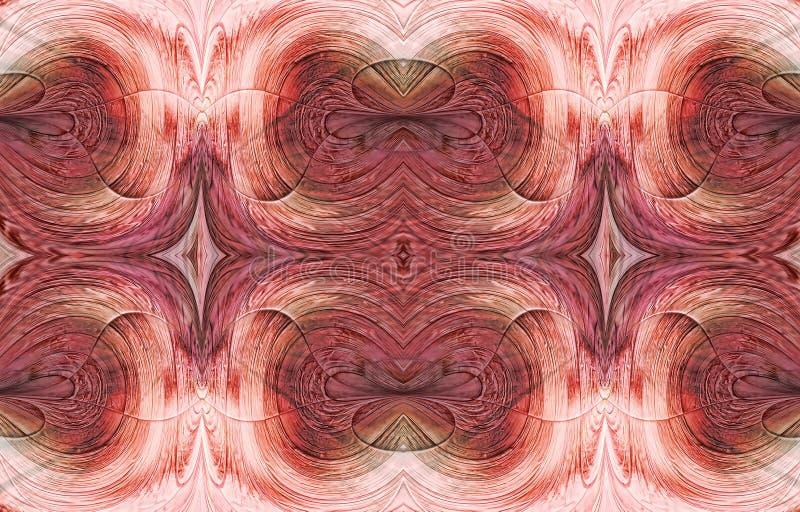 桃红色对称抽象 向量例证