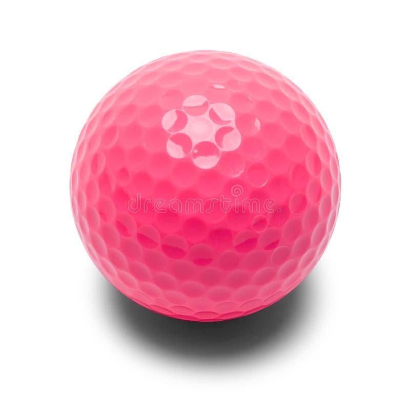 桃红色小小高尔夫球球 免版税库存照片