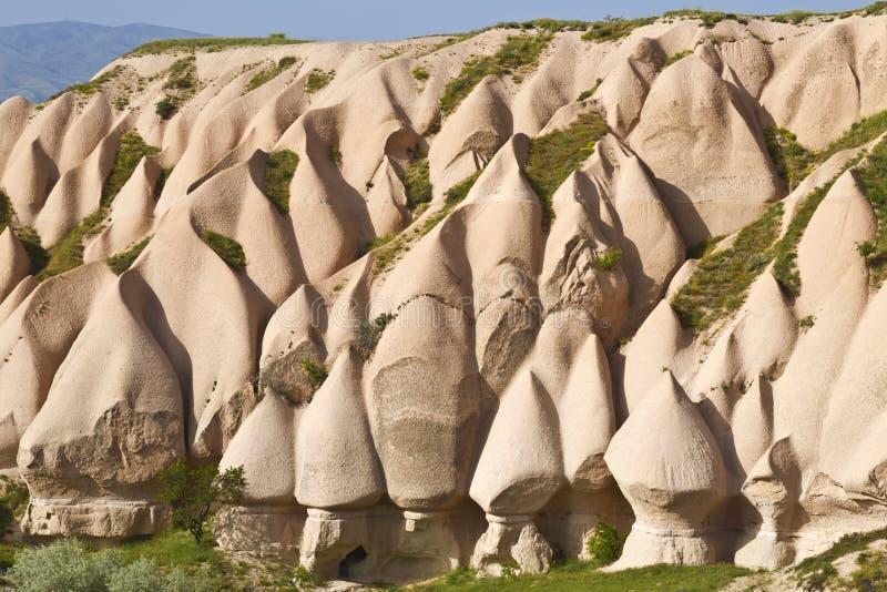 桃红色岩石, Goreme,卡帕多细亚,中央安纳托利亚,土耳其 库存照片