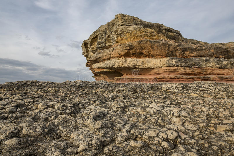 桃红色岩石, Kandira, Kocaeli,土耳其 免版税库存照片