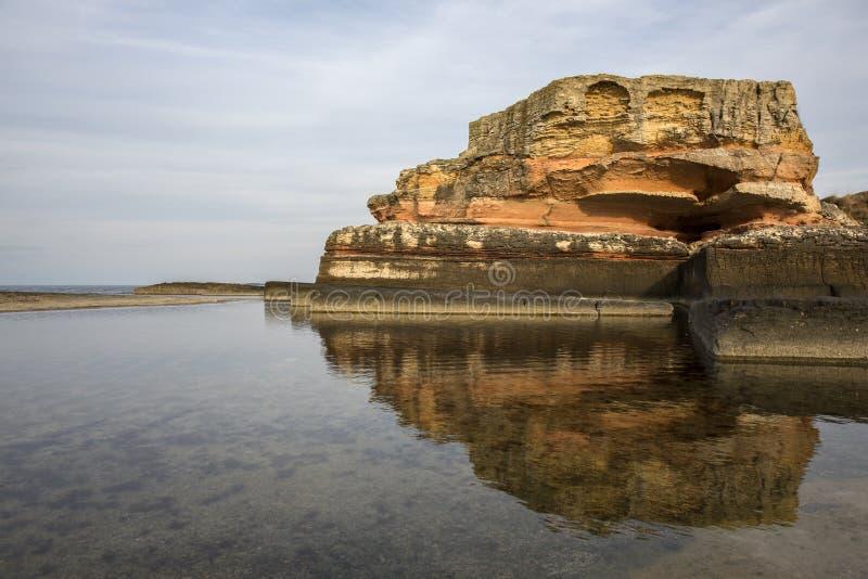 桃红色岩石, Kandira, Kocaeli,土耳其 免版税库存图片