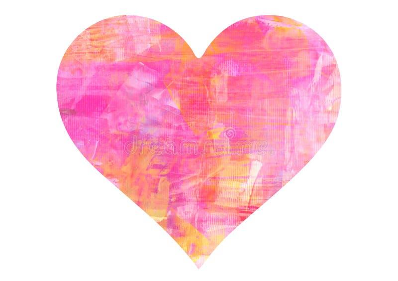 桃红色心脏-情人节 库存照片