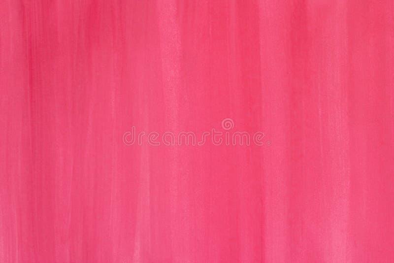桃红色抽象手画水彩背景 库存照片