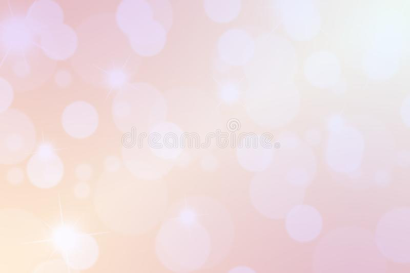 桃红色抽象背景,在桃红色背景的圈子形状 向量例证